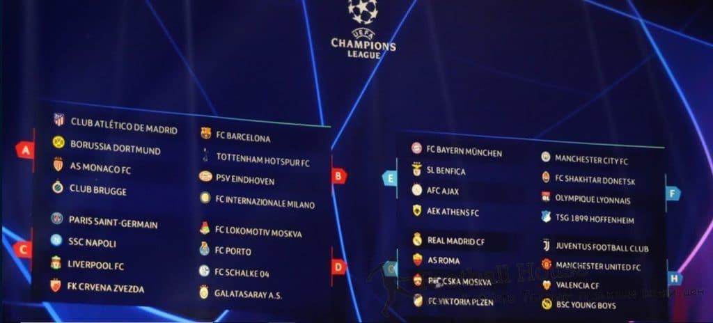 Групова фаза на Шампионска лига 2018/2019
