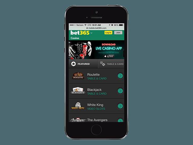 Bet365 - мобилна версия