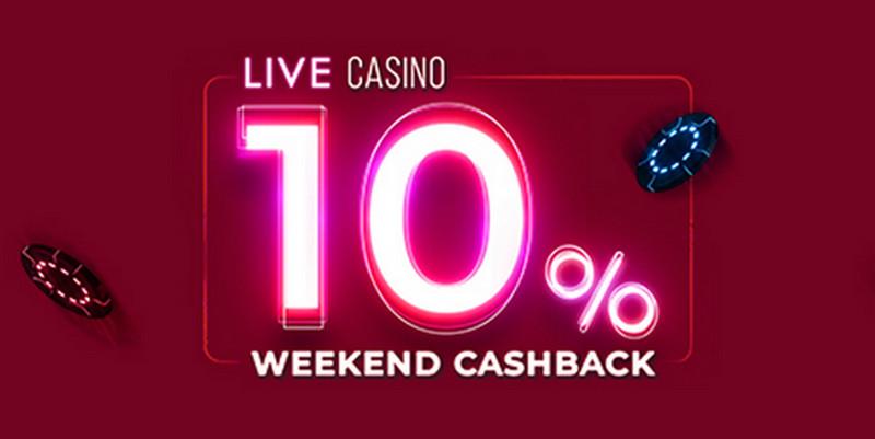 10% cashback бонус за залози в Live казиното на WinBet