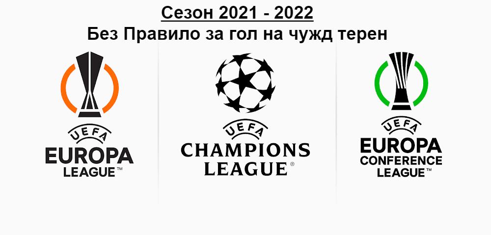 От сезон 2021/2022: Без правило за гол на чужд терен в ШЛ, ЛЕ И Лигата на Конференциите
